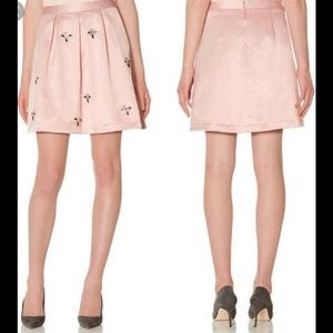 NWT The Limited Pink Satin Rhinestone Skirt